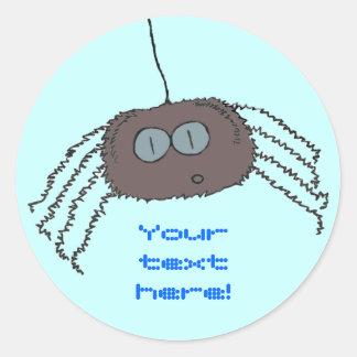 Itchy spider classic round sticker