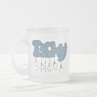Itchy spider frosted glass coffee mug