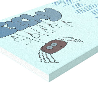 Itchy spider gallery wrapped canvas