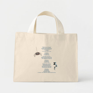 Itchy spider tote bags