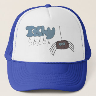 Itchy spider trucker hat