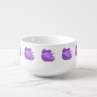 ITD Blurberries and Cream Soup Bowl With Handle