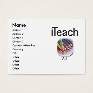 iteachART business card