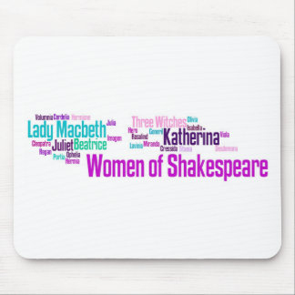 Items inspired by the women of Shakespeare's stori Mouse Mat