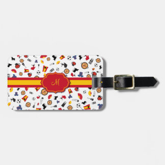 Items of Spain with flag to add your monogram Luggage Tag
