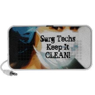 """Items """"Surg Techs Keep It Clean!"""" Travelling Speaker"""