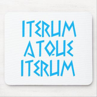iterum atque iterum again and again mousepad