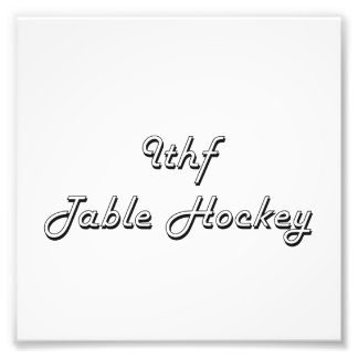 Ithf Table Hockey Classic Retro Design Photo Art