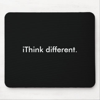 iThink different: White on Black Mouse Mat