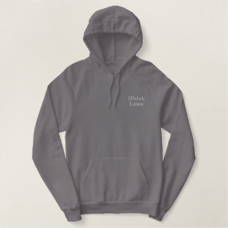 iThink Linux, Designs by Che Dean Embroidered Hoodie