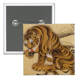 Ito Jakuchu Tiger Button