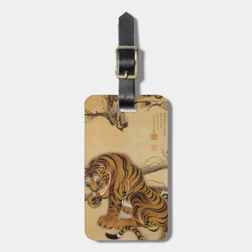 Ito Jakuchu Tiger Luggage Tag