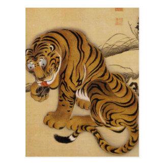 Ito Jakuchu Tiger Postcard