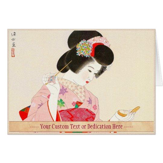 Ito Shinsui Make up vntage japanese geisha lady
