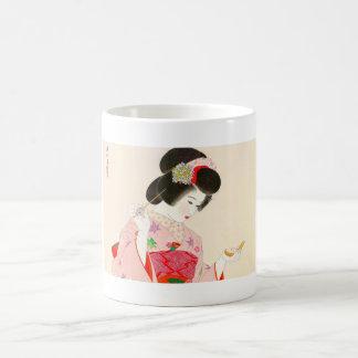 Ito Shinsui Make up vntage japanese geisha lady Basic White Mug