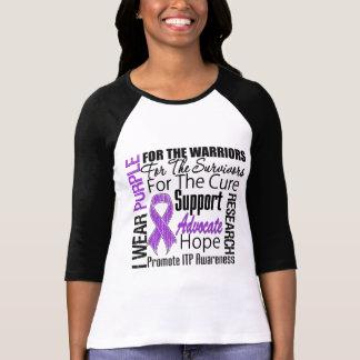 ITP Awareness I Wear Purple Ribbon Tshirts