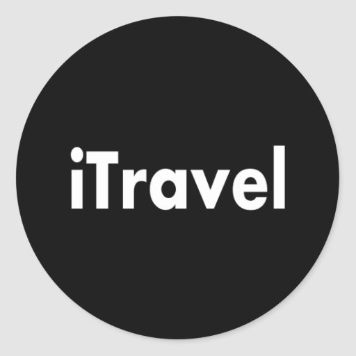 iTravel Classic Round Sticker