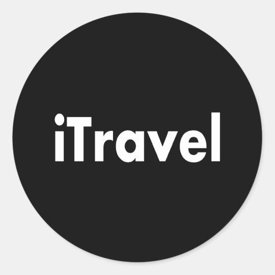 iTravel Round Sticker