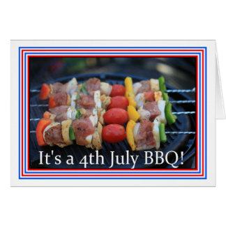 It's a 4th July BBQ invitation