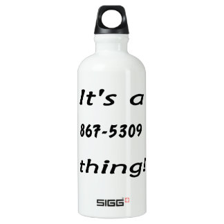 it's a 867-5309 thing SIGG traveller 0.6L water bottle