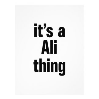 """its a ali thing 8.5"""" x 11"""" flyer"""