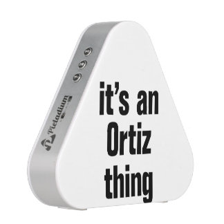 its a an ortiz thing