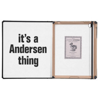 its a andersen thing iPad folio cover