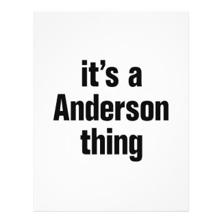 "it's a anderson thing 8.5"" x 11"" flyer"