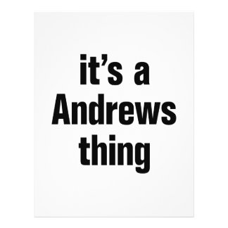 """its a andrews thing 8.5"""" x 11"""" flyer"""