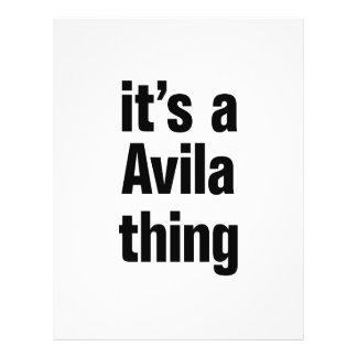 "its a avila thing 8.5"" x 11"" flyer"