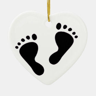 It's a Baby - Baby Feet Christmas Ornament