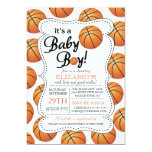 It's a Baby Boy Basketball Baby Shower Invitations