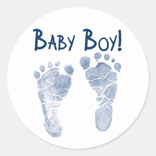 It's a baby boy! classic round sticker