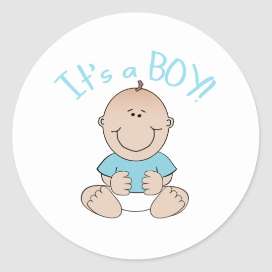 It's a Baby Boy! Classic Round Sticker