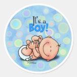 It's a Baby Boy! Round Sticker