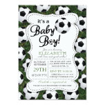 It's a Baby Boy Soccer Baby Shower 13 Cm X 18 Cm Invitation Card