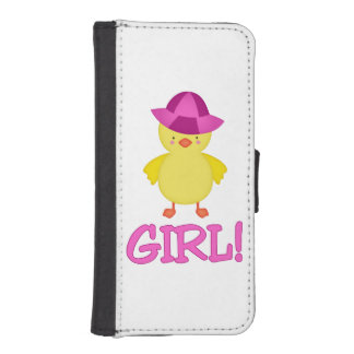 It's A Baby Girl Duckie Pink Hat iPhone 5 Wallet