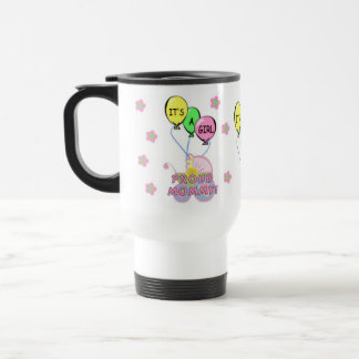 Its A Baby Girl Stainless Steel Travel Mug