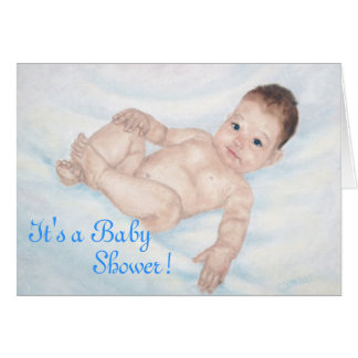 It's a Baby Shower Blue Invitaion Note Card