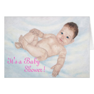 It's a Baby Shower Pink Invitaion Note Card