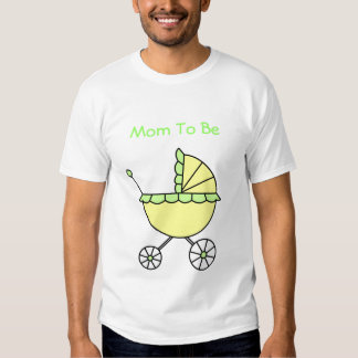It's A Baby! Yellow Green Baby Carriage Shirt