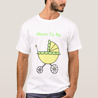It's A Baby! Yellow Green Baby Carriage T-Shirt
