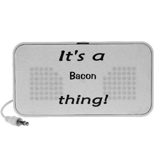 It's a bacon thing! mp3 speakers