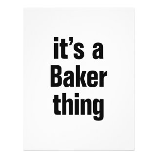 its a baker thing 21.5 cm x 28 cm flyer