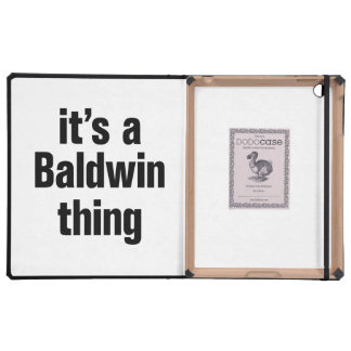 its a baldwin thing iPad cover