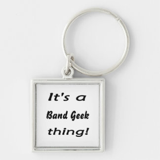 It's a band geek  thing! Silver-Colored square key ring