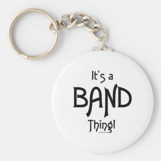 It's a Band Thing! Basic Round Button Key Ring