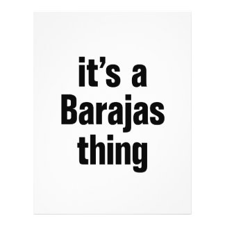 its a barajas thing 21.5 cm x 28 cm flyer
