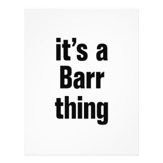 its a barr thing 21.5 cm x 28 cm flyer