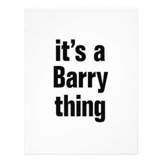 its a barry thing 21.5 cm x 28 cm flyer